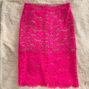 Pink Lace Trina Turk Pencil Skirt Size 4